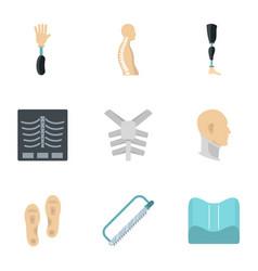 orthopedic disease icon set flat style vector image