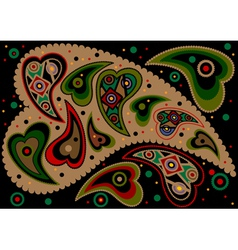 Paisley on black background vector