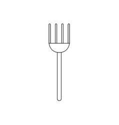 Pitchfork icon vector