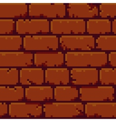 Pixel Brick Wall vector