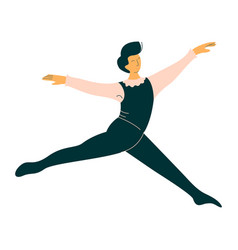 Professional male ballet dancer dancing classical vector