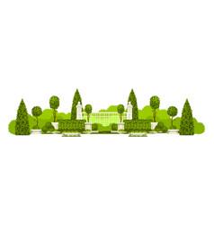 Public park panoramic vector
