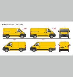 Ram promaster cargo van l1h1 and l2h1 2018 vector