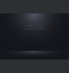 realistic black studio background vector image