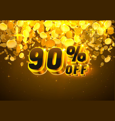 Sale 90 off banner promotion discount flyer big vector