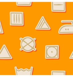 seamless background with washing symbols vector image