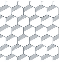 seamless geometric abstract patterns of hexagons vector image