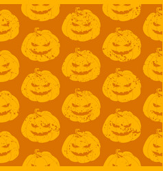 seamless pumpkin pattern for halloween holidays vector image