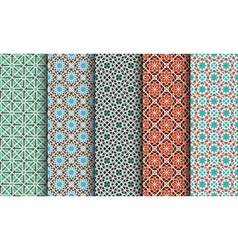 Set of Geometric Patterns vector image