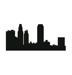 silhouette urban building skyscraper architecture vector image