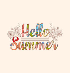 summer sale original drawing background vector image