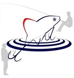 The bait fisherman vector image