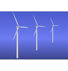 Three wind turbines vector image