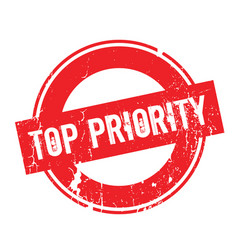 top priority rubber stamp vector image