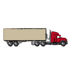 truck cabin container transport business vector image
