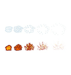 Two types of explosions for animation vector