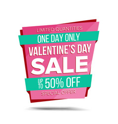 Valentine s day sale banner special offer vector