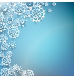 White paper christmas snowflake on a blue EPS 10 vector image