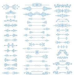Winter decorDivider bordesChristmasNew Year vector image