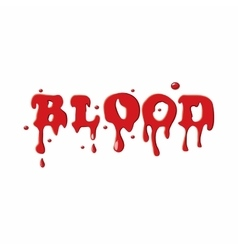 Word blood icon vector