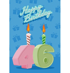 46 years celebration 46nd happy birthday vector image vector image