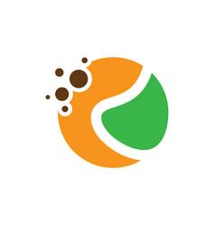 abstract circle dot eco logo vector image vector image