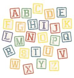 baby blocks alphabet vector image