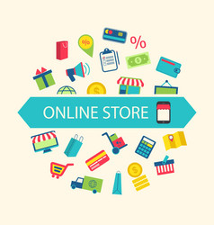 E-commerce Shopping Symbols vector image vector image