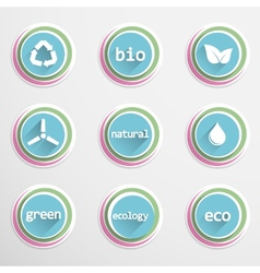 Eco buttons vector image