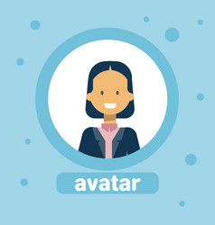 female avatar business woman profile icon element vector image vector image