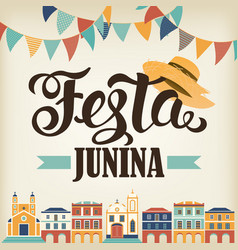 festa junina hat vector image
