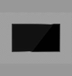 lcd tv screen vector image