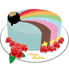 rainbow cake vector image vector image