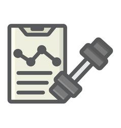 sport training program filled outline icon vector image vector image