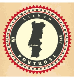 Vintage label-sticker cards of Portugal vector image vector image