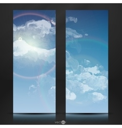 Cloud Sky Painted Background vector image