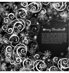 elegant christmas red background vector image