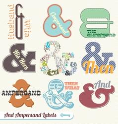 Vintage Retro Ampersand Labels vector image vector image