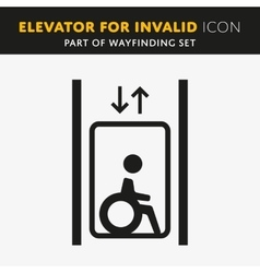 Disability man pictogram flat icon lift vector image vector image
