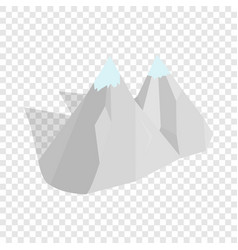 mountains isometric icon vector image