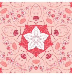 Mandala square background decor lace ornament vector