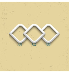 Three geometric numbered banners vector image vector image