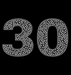 30 text in polygonal mesh style vector image