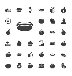 33 apple icons vector