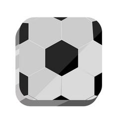 3d ball soccer game vector image
