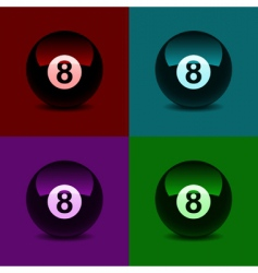 8 ball vector image