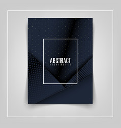 abstract 3d background with black paper layers vector image
