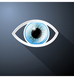 Abstract Paper Blue Eye on Dark Blue Background vector image