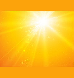 abstract rays yellow background with light dots vector image