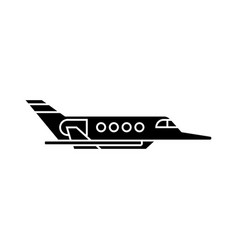 aircraft black icon concept aircraft sig vector image